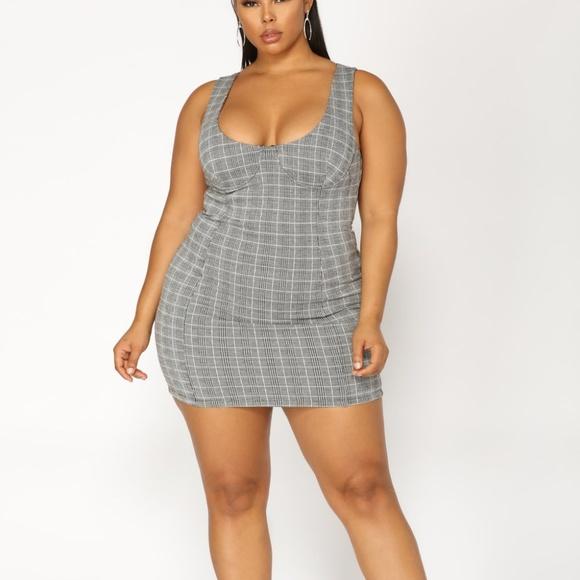 Fashion Nova Dresses | Plus Size Reality Check Plaid Dress | Poshmark